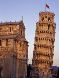 Leaning Tower of Pisa and Cathedral, Italy Photographic Print by John & Lisa Merrill