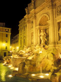 Trevi Fountain at Night, Rome, Italy Photographic Print by Connie Ricca