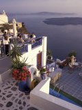 View Toward Caldera, Imerovigli, Santorini, Greece Photographic Print by Connie Ricca