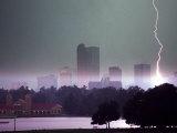 Lighting Strikes in Downtown Denver Fotografisk trykk