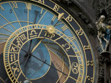 Astronomical Clock on Old Town Hall, Prague, Czech Republic Reproduction photographique par David Barnes