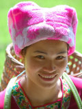 Portrait of a Zhuang Girl, China Photographic Print by Keren Su