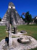 Temple I, Tikal, Guatemala Fotografisk tryk af John Elk III