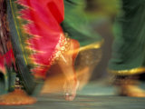 Indian Cultural Dances, Port of Spain, Trinidad, Caribbean Fotografisk trykk av Greg Johnston