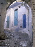 Blue Doors and Whitewashed Wall, Morocco Photographic Print by John & Lisa Merrill