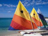 Sailboats on the Beach at Princess Cays, Bahamas Impressão fotográfica por Jerry & Marcy Monkman