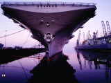 Bow of Uss Hornet at Dock, Alameda, U.S.A. Photographic Print by Levesque Kevin