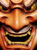Detail of Noh Mask, Kyoto, Japan Photographic Print by Frank Carter