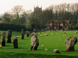Section of 5500 Year Old Stonecircle Enclosing Village, Avebury, United Kingdom Reproduction photographique par Anders Blomqvist