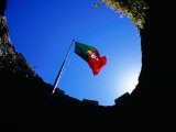 Portuguese Flag Inside Castelo Dos Mouros, Sintra, Portugal Photographic Print by Martin Lladó