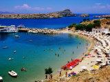 Lindos Beach, Lindos, Greece Fotografie-Druck von Christopher Groenhout