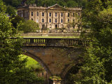 Bridge with Chatsworth House in the Background, Chatsworth, United Kingdom Photographic Print by Glenn Beanland