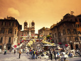 Spanish Steps in Rome, Italy Reproduction photographique par Bill Bachmann