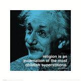 Albert Einstein: Religion Plakater