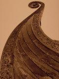 Detail of Viking Ship, Norway Fotografisk trykk av Walter Bibikow