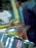 Steel Drums, Port of Spain, Trinidad, Caribbean Fotografisk trykk av Greg Johnston