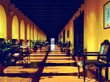 El Convento Hotel, Patio del Nispero, Courtyard, San Juan, Puerto Rico Fotografisk trykk av Greg Johnston
