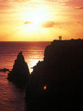 Cabo Rojo at Sunset, Puerto Rico Fotografisk trykk av Greg Johnston