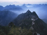 Great Wall in Early Morning Mist, China Photographic Print by Keren Su