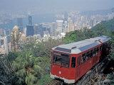 The Peak Tram, Victoria Peak, Hong Kong, China Reproduction photographique par Brent Bergherm