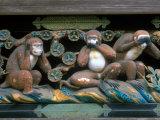 Hear No Evil, Speak No Evil, See No Evil, Toshogu Shrine, Tochigi, Nikko, Japan Fotografie-Druck von Rob Tilley