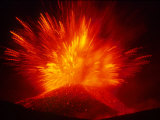 Explosive Vent on the North Side of the Montagnola, Mt. Etna, Sicily, Italy Reproduction photographique par Daisy Gilardini