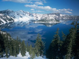 Crater Lake During a Cold Winter, Oregon, USA Photographic Print by Janis Miglavs