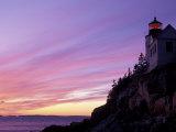 Bass Harbor Head Light at Sunset, Mt. Desert Island, Acadia National Park, Maine, USA Impressão fotográfica por Jerry & Marcy Monkman