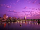 Sunrise over Spirit of Portland Ship, Willamette River, Portland, Oregon, USA Photographic Print by Janis Miglavs