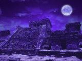 Ruines Maya, Tulum, Mexique Reproduction photographique par Bill Bachmann