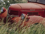 Old Truck in Grassy Field, Whitman County, Washington, USA Fotografisk tryk af Julie Eggers