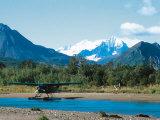 Float Plan on Salmon Stream, Katmai National Park, Alaska, USA Fotografisk tryk af Dee Ann Pederson