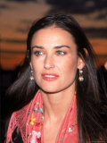 Actress Demi Moore at Debut of Talk Magazine at Liberty Island Premium Photographic Print by Dave Allocca