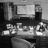 Oval Office Desk Belonging to the Late President Franklin D. Roosevelt Premium Photographic Print by Thomas D. Mcavoy
