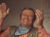 "Actor John Wayne During Filming of Western Movie ""The Undefeated"" Premium fotografisk trykk av John Dominis"