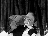 President Franklin D. Roosevelt Listening to Speeches During the Jackson Day Dinner Photographic Print by Thomas D. Mcavoy