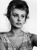 Actress Sophia Loren at Home Premium Photographic Print by Alfred Eisenstaedt
