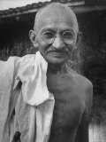 Leader of India, Mohandas Gandhi Premium Photographic Print by Wallace Kirkland