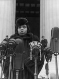 Singer Marian Anderson Conducting a Voice Test Prior to Concert on Steps of the Lincoln Memorial Premium Photographic Print by Thomas D. Mcavoy