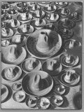 Display of Sombrero Ashtrays Hand Painted by Mexican Natives for Sale at Macy's Department Store Photographic Print by Margaret Bourke-White