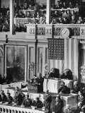 President Franklin D. Roosevelt at State of the Union Address, What It Would Take to Win the War Photographic Print by Thomas D. Mcavoy