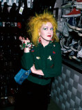 Singer Cyndi Lauper Premium-Fotodruck von David Mcgough
