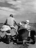 Family Driving on Motorcycle and Sidecar from Omaha, Nebraska to Salt Lake City, UT Photographic Print by Allan Grant