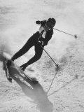 Betsy Snite During Winter Olympics Premium-valokuvavedos tekijänä Ralph Crane