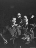 The Kingston Trio Performing on Stage Premium Photographic Print by Thomas D. Mcavoy