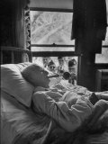 Serenaded by Horston American Legion Oldest Civil War Veteran Walter Williams in Bed with Cigar Photographic Print by Thomas D. Mcavoy