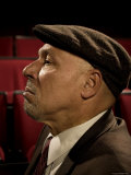 Playwright August Wilson, Photographed at the Yale Repertory Theater in New Haven, Conn Premium fotoprint van Ted Thai