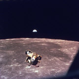Apollo 11 Lunar Module Ascent Stage From Command Service Module During Lunar Orbit Exklusivt fotoprint