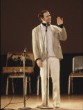 Comedian / Actor Andy Kaufman During Performance at Carnegie Hall Premium fotoprint van Ted Thai