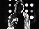 Rolling Stones Lead Singer Mick Jagger Performing at the Live Aid Concert プレミアム写真プリント